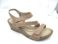 Clarks Collection womens ladies 11M 42 beige brown wedges ladies sandals shoes