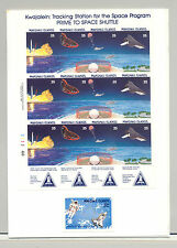 Marshall Islands #208a, C21 Space Shuttle Proofs Mounted in Folder