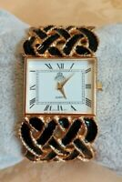 orologio quarzo bracciale rigido smalto vtg quartz luxury bracelet- FUNZIONANTE