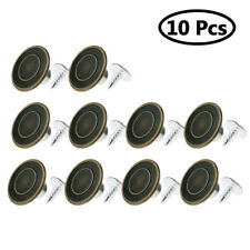 10Pcs Metal Jeans Buttons Suspenders Replacement Instant Clothes with Nails Kits