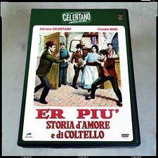 ER PIU' Celentano Clan Mori RARO DVD più LIBRETTO Fuori Catalgo MITI CINEMA
