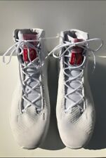 ADIDAS MEN'S PRO-BOUNCE WHITE KNIT MID 2018 BASKETBALL SNEAKERS SIZE 18