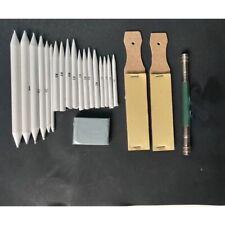 23Pcs Sandpaper Erasable Smudge Stick Sketch Tools Beginner Art Stump Pencil Set