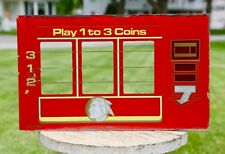Vintage Slot Machine Glass Insert Indiana Head Chief Coin Slot Sign Red Yellow