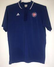 Mens Chicago Cubs Medium Adidas ClimaLite MLB Polyester Golf Polo Shirt