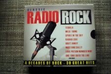 various CLASSIC RADIO ROCK 30 GREAT HITS 4 DECADES 3 CDS    FREE SHIPPING   6800