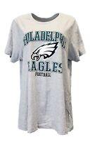 Philadelphia Eagles Women's NFL Team Apparel Grey T-Shirt, Plus Size, nwt