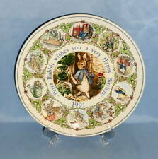 Wedgwood Beatrix Potter Peter Rabbit Wishes a You Very HAPPY BIRTHDAY PLATE 1991