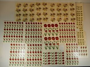 Konvolut 140 Schiebebilder Abziehbilder Mohn bunte Blumen Dekorieren Einbrennen