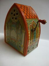 VINTAGE CHEIN TIN/LITHO TOY WIND-UP WORKING MUSICAL CHURCH CATHEDRAL ORGAN U.S.A