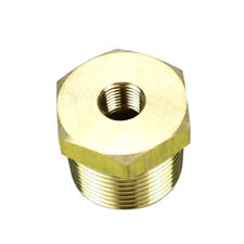 """1/2"""" BSPT Male * 1/8"""" Female NPT Adapter Brass Pipe Fitting Reducing Bushing"""