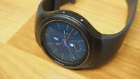 Samsung - Gear S2 Smartwatch 42mm Stainless Steel - Black Elastomer SM-R720