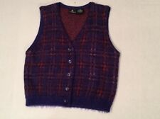 Mohair Vest Size M Medium Purple Plaid Sweater Vest Liz Sport button front