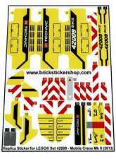 Precut Custom Replacement Stickers voor Lego Set 42009 - Mobile Crane MkII (2013