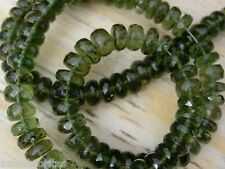 30 MOLDAVITE checkered cut beads size about 5.5mm x 3mm each total = 30 BEADS