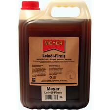 Leinölfirnis, Leinöl Firnis Meyer Holzschutz, doppelt gekocht, harzfrei 5 Liter