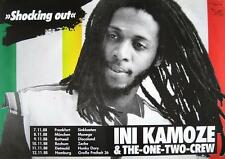 """INI KAMOZE & THE ONE TWO CREW TOUR POSTER / KONZERTPLAKAT """"SHOCKING OUT TOUR"""""""