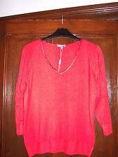 Orange V-neck Jumper by Per Una @ Marks & Spencer Size 14 BNWT