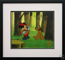 "Disney Fr Mickey Mouse Pluto Animation Cel ""Pointer gift free backround"