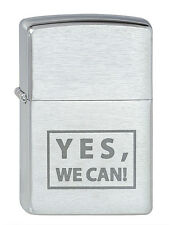 ZIPPO accendino Yes, we can! 2000448, cromo spazzolato Spring 09