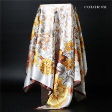 Women's Scarf Silk-Satin Square Head Shawl Scarfs 35