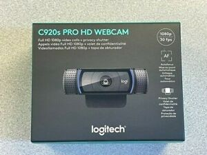Logitech C920s Pro HD 1080p Webcam with Privacy Shutter, BRAND NEW!