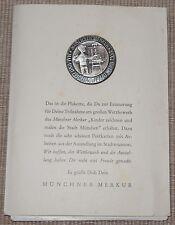Broschen-Anstecker Münchner Merkur Mal- u. Zeichenwettbewerb 1958 + 8 Postkarten
