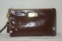 BRAHMIN Millie Brown Genuine Python Wristlet Clutch - Dust Bag RARE!!