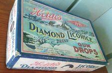 Vintage 1920-1930's HEIDE'S DIAMOND LICORICE GUM DROPS Advertising Candy Box HTF