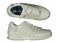 TRAINERS K.SWISS RINZLER 02283912-M MONOCHROME WHITE TRAINERS DESIGNER SNEAKERS