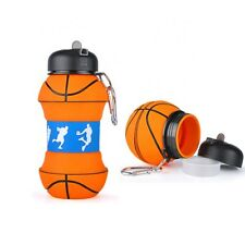 Silicone Water Bottle - Basketball - Foldable Outdoor/Indoor - 500ml