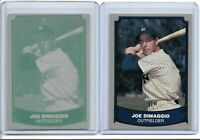 1/1 JOE DIMAGGIO 1988 PACIFIC LEGENDS PRINTING PLATE NY NEW YORK YANKEES 1 OF 1