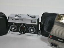 Rollei 35 35mm Sucherkamera, made in Germany inkl taschen case blitz flash