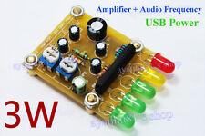 Mini 3W Audio Power Amplifier + KA2284 LED Music Spectrum Kit DIY Stereo Speaker