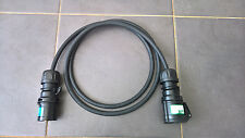 2m ALL BLACK 16a ip44 Extension - 2.5mm h07rn-f Cavo-evento/Stage