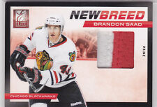 2011 11-12 Elite New Breed Materials Prime #4 Brandon Saad 10/25 jersey patch