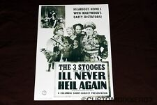 The Three 3 Stooges I'll Never Heil Again Theater poster Lobby card art print