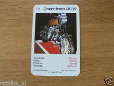 EASY RIDER 1D CHOPPER HONDS CB750 KWARTET KAART, QUARTETT CARD,SPIELKARTE