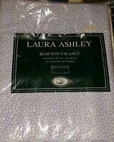 "1 LAURA ASHLEY BLOUSON VALANCE Quartet Petite SYCAMORE SAPHIRE 86"" X 15"" NEW"