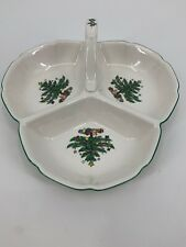 NIKKO Christmastime  3 Section Divided Serving Dish Tray Bowl Plate Christmas