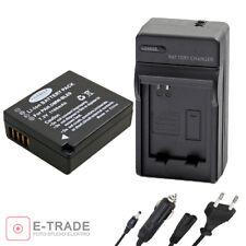 BATTERY + CHARGER -- FOR Panasonic DMW-BLE9 DmW-BLE9E DMW-BLE9PP DMC-GF3
