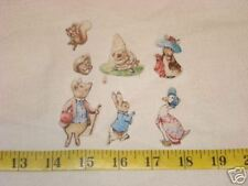 14 Beatrix Potter Peter Rabbit Characters Fabric Applique Iron On ons Set 2