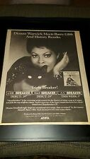 Dionne Warwick Barry Gibb Heartbreaker Rare Radio Promo Poster Ad Framed!