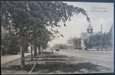 CANADA ~1912 LETHBRIDGE Alta ~ Un-Paved Third Avenue ~Church ~Horse Carriage