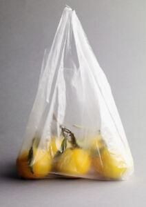 """2500 Knotenbeutel Plastiktüten Obst Tragebeutel 7-8my """"für 3kg"""" transp. geblockt"""