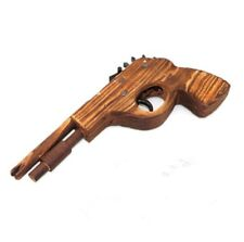 Classical Rubber Band Launcher Wooden Hand PisCil Gun Shooting Toys Kids Gi BLUJ