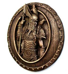 Odin Statue Norse Raven Viking Decor Scandinavian Art Bronze Sculpture Decor