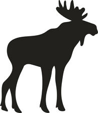 Moose Bull Silhouette Removable or Permanent Vinyl Decal Sticker Art Craft Decor