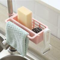 Kitchen Sink Faucet Sponge Soap Cloth Drain Rack Storage Organizer Holders Shelf