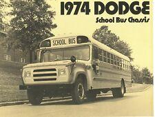 1974 Dodge School Bus Chassis Brochure S600/B300